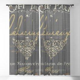 La Cuisine III Sheer Curtain