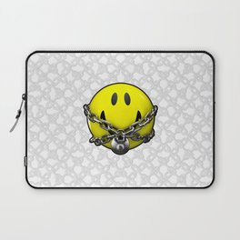 Quit Your Grinning / 3D chained up smiley Laptop Sleeve