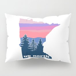 Up North Minnesota Blush Sunset Pillow Sham