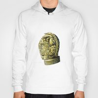 c3po Hoodies featuring C3PO by bkpena