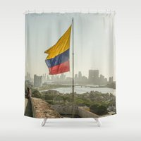 flag Shower Curtains featuring Flag by miloezger