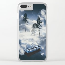 Forest sailing Clear iPhone Case