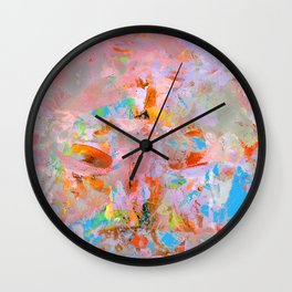 Rainbow Abstract Wall Clock