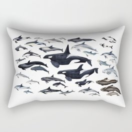 Dolphin diversity Rectangular Pillow