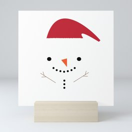 Cute snowman Mini Art Print