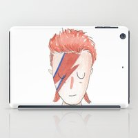 bowie iPad Cases featuring Bowie by Milla Scramignon