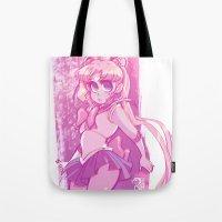 sailor moon Tote Bags featuring Sailor Moon by Peach Mork