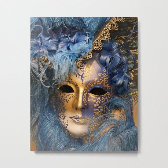 Venetian Mascaraed Metal Print