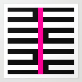 Licorice Bytes, No.17 in Black and Pink Art Print