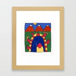 Under the Volcano Framed Art Print