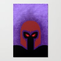 magneto Canvas Prints featuring Magneto by Sprite