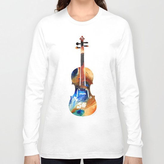 Violin Art By Sharon Cummings Long Sleeve T-shirt