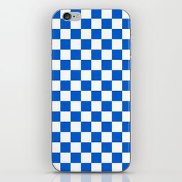 Gingham Brilliant Blue Checked Pattern iPhone Skin