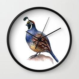California Quail Wall Clock