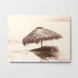 Surfing Palapa Metal Print