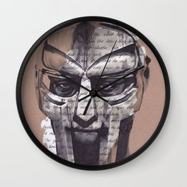 MF DOOM Portrait Wall Clock