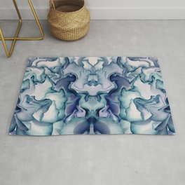 Abstract graphic mirror 8 Rug