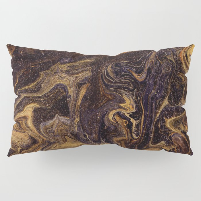Chocolate and Gold Pillow Sham