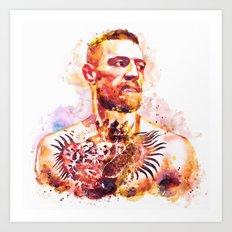 Conor McGregor Watercolor Portrait Art Print