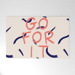 GO FOR IT #society6 #motivational Welcome Mat