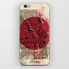 chicago map japanese style iPhone Skin