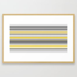 yellow and grey horizontal Framed Art Print
