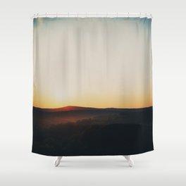 Sunset over Garden of the Gods in Illinois Shower Curtain