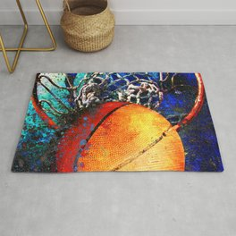 Basketball art swoosh 85 Rug