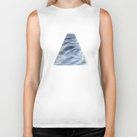 silver Biker Tanks featuring Silver Veil by Puddingshades