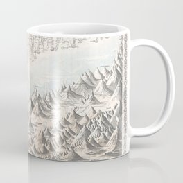 1855 chart of the worlds mountains and rivers Coffee Mug