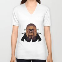 chewbacca V-neck T-shirts featuring Chewbacca by lazylaves