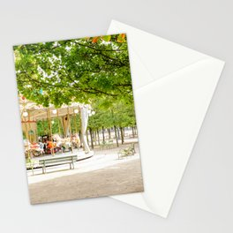 Charming Carousel in Paris France Stationery Cards
