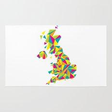 Abstract United Kingdom Bright Earth Rug