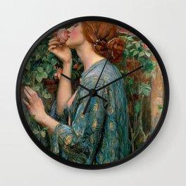 John William Waterhouse The Soul Of The Rose Wall Clock