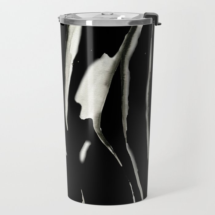 White on Black Nude No.2 Travel Mug