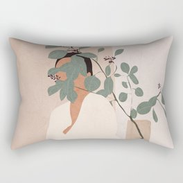 Behind the Leaves Rectangular Pillow