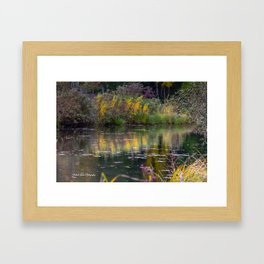 Channel in the Fall Framed Art Print