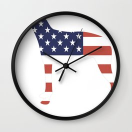 American-Hairless-Terrier-tshirt,-patriotic-American-Hairless-Terrier Wall Clock