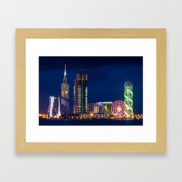 A cityscape of Batumi, Georgia Framed Art Print