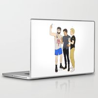 starbucks Laptop & iPad Skins featuring Starbucks Selfie by Plebnut