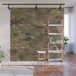 Military Woodland Camouflage Pattern Wall Mural
