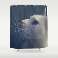 wonder Shower Curtains featuring Wonder by Yoshigirl