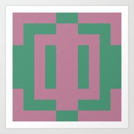 Green + Pink Art Print