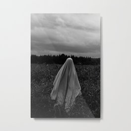 Ghost in the Field - Tall Metal Print