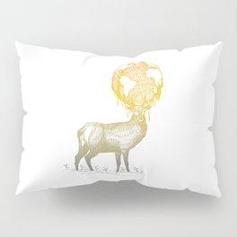 Deer God (Stag & Earth Illustration) Pillow Sham