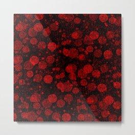 Red bubbles Metal Print