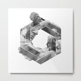 Love optical illusion Metal Print