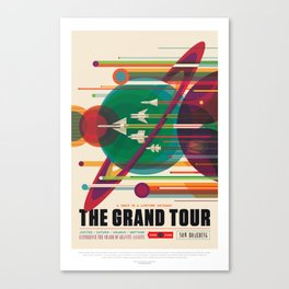 Retro Space Poster - The Grand Tour Canvas Print