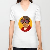 van gogh V-neck T-shirts featuring Pablo van Gogh 3 by Marko Köppe