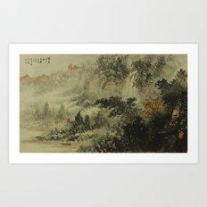 In crossing the river Art Print